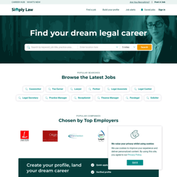 simplylawjobs com at WI  Legal Jobs - Law Jobs | Simply Law Jobs