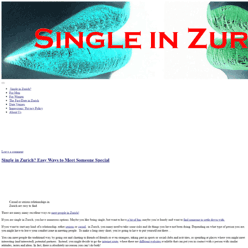 Dating Online Zurich
