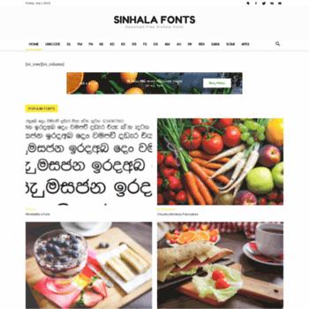 Sinhalafonts.net thumbnail