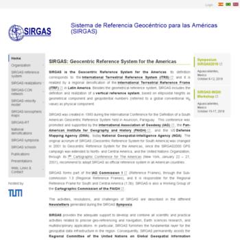 Sirgas.org thumbnail