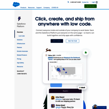 site com at WI  Application Development from Salesforce