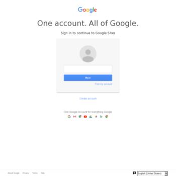 Веб сайт sites.google.com