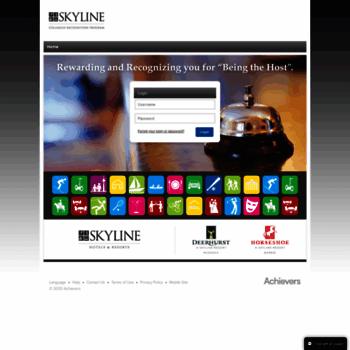 skyline achievers com at WI  Skyline - REACH for the SKY - Login