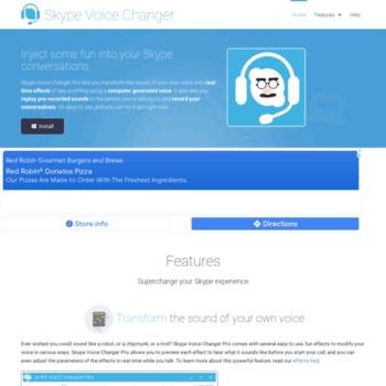 skypevoicechanger net at WI  Skype Voice Changer Pro