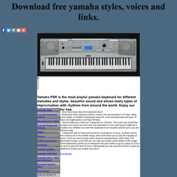 slider 50webs com at WI  YAMAHA KEYBOARD STYLES - download