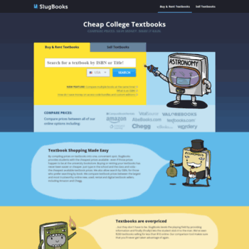 slugbooks com at WI  Compare College Textbook Prices | Buy