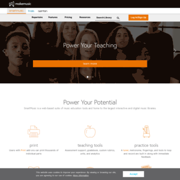smartmusic com at WI  SmartMusic | Music Learning Software