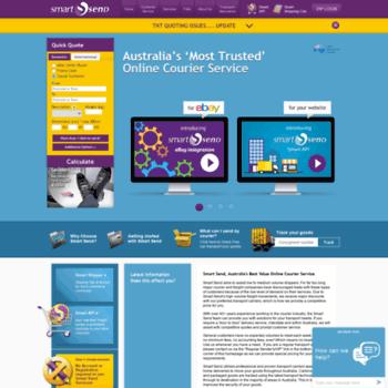 smartsend com au at WI  Smart Send | Interstate Courier Services