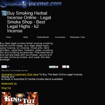 smokingincense com at WI  Buy Smoking Herbal Incense Online - Legal