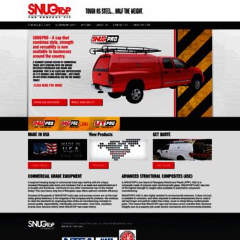 snugtopcommercial com at WI  Commercial Camper Shells