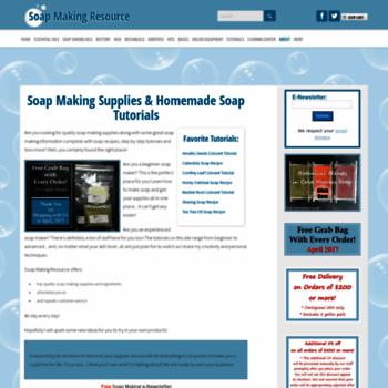 Soap-making-resource.com thumbnail