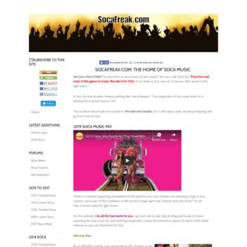 socafreak com at WI  Soca music info, downloads, playlists