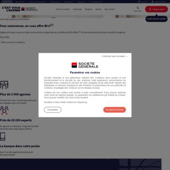 huge discount dae12 3814d Societegeneral.fr thumbnail. Alexa Rank  16663113. Banque en ligne Société  Générale   services bancaires pour les particuliers, les professionnels ...
