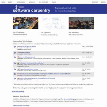 Software-carpentry.org thumbnail