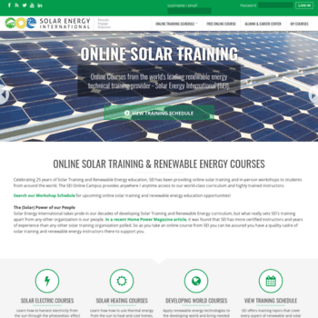 solarenergytraining org at WI  Online Solar Training and Renewable