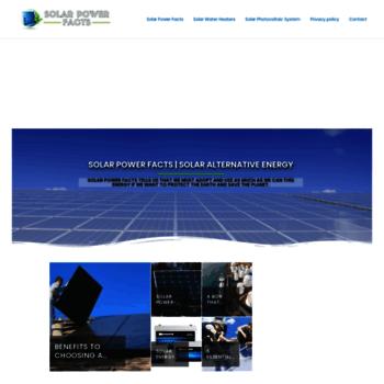 Solarpowerfacts.biz thumbnail