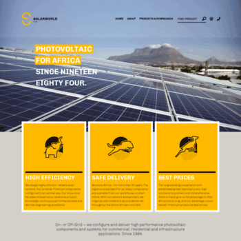 Solarworld.co.za thumbnail