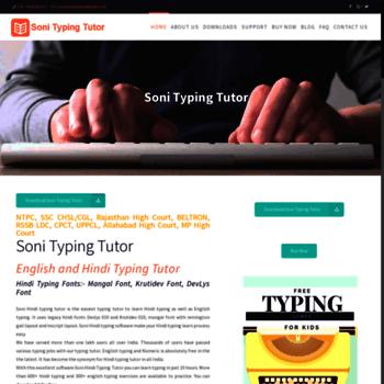 sonitypingtutor com at WI  Hindi Typing Tutor   Hindi Typing