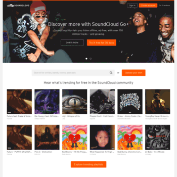 soundcloud com at WI  SoundCloud – Listen to free music and podcasts