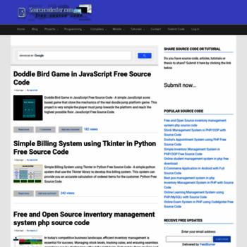 sourcecodester com at WI  Free Source Code & Tutorials | Visual