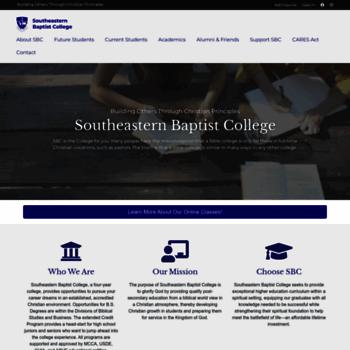 Southeasternbaptist.edu thumbnail