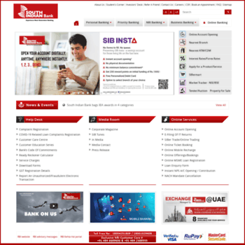 Southindianbank.com thumbnail