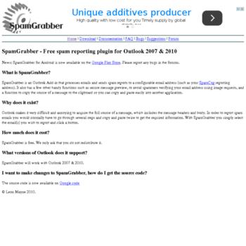 Spamgrabber.org thumbnail