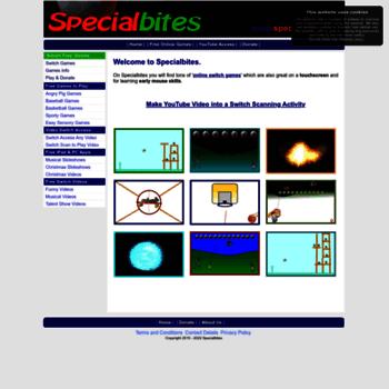 specialbites com at WI  Specialbites - free inclusive switch