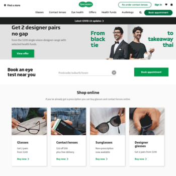 928ed892e8c2eb specsavers.com.au at WI. Welcome to Specsavers