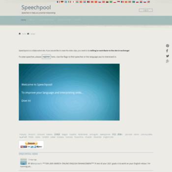 Speechpool.net thumbnail