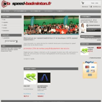 Speed-badminton.fr thumbnail