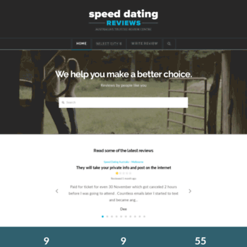 reviews of speed dating