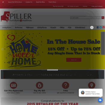 Spillerfurniture Com At Wi Spiller Furniture Mattress