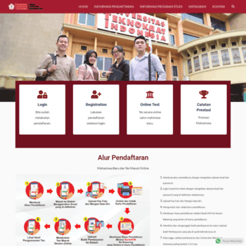Веб сайт spmb.teknokrat.ac.id