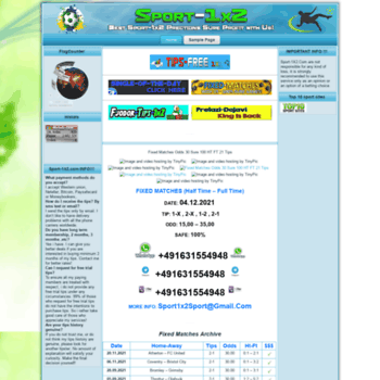 sport-1x2 com at WI  Sport Betting Site Tips 1x2 - SoccerVista, Sure