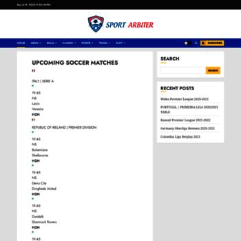 sportarbiter com at WI  Soccer Stats and Analysis | SportArbiter com