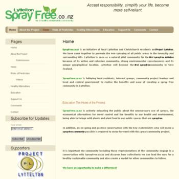 Sprayfree.co.nz thumbnail