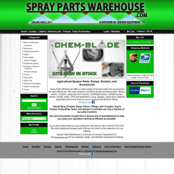 spraypartswarehouse com at WI  Agriculture Sprayer Parts and