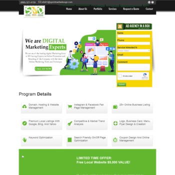 sprintmediadesign com at WI  web design company in new york