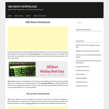 srs-root com at WI  SRS ROOT DOWNLOAD for one click root Android