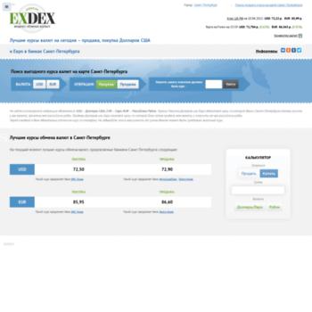 Веб сайт st-petersburg.exdex.ru