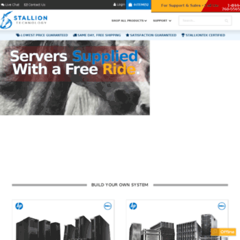 stalliontek com at WI  Refurbished/Used Dell Servers and HP Servers