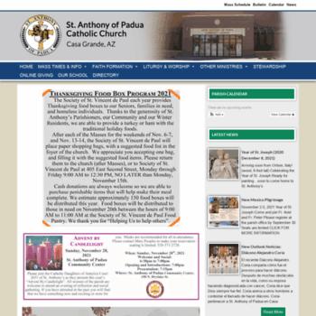stanthonycg org at WI  St  Anthony of Padua - Casa Grande, AZ