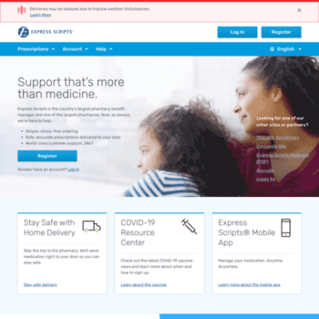 starthomedelivery com at WI  Express Scripts Members: Manage