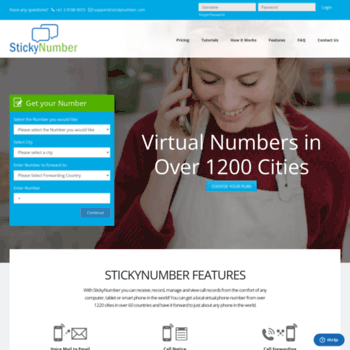 stickynumber com at WI  USA Virtual Number, Virtual Phone Number