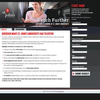Stjohnsuniversity.info thumbnail