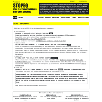 stopeg com at WI  STOPEG COM - STOP ELECTRONIC WEAPONS AND