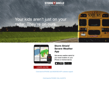 stormshieldalerts com at WI  Storm Shield Weather Radio App