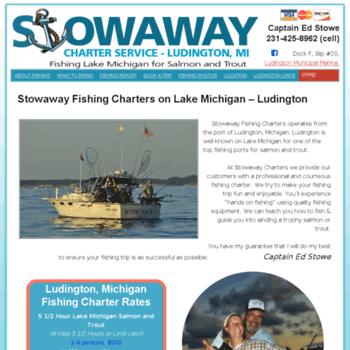 stowawaycharters com at WI  Stowaway Charters Fishing Salmon