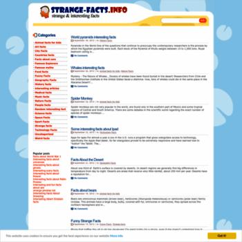 Strange-facts.info thumbnail